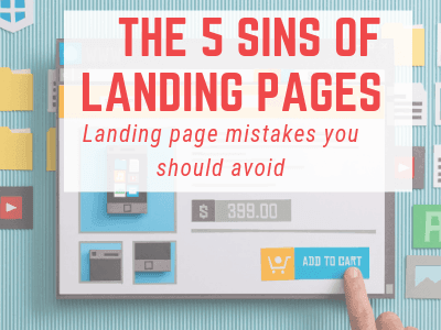 the 5 sins of landing pages